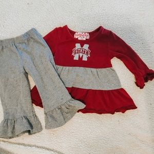 Mississippi state ruffle girl outfit